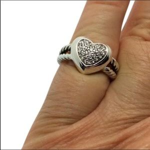 David Yurman Diamond heart ring